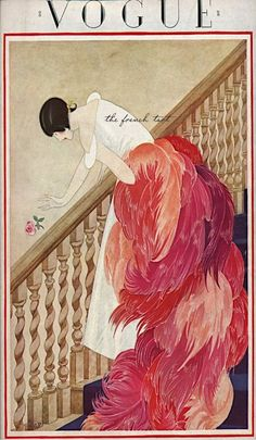 ⍌ Vintage Vogue ⍌ art and illustration for vogue magazine covers - November 1, 1924 by George Wolfe Plank