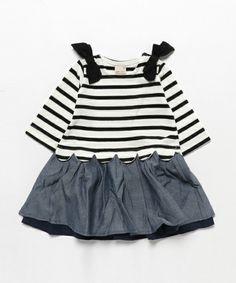 肩リボン付き裾スカラップボーダーロンパース(ロンパース)|petit main(プティマイン)のファッション通販 - ZOZOTOWN