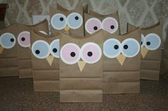 """""""Owl miss you this summer"""" Owl treat bags Sleepover Party, Pajama Party, Slumber Parties, Owl Party Favors, Party Favor Bags, Goodie Bags, Treat Bags, Gift Bags, Snack Bags"""