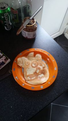 This Peppa Pig almost looks too good to eat! Almost.... #prizepancake #pancakes