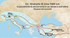 Il Gazzettino - Parata di biciclette solari a Milano: viaggeranno fino ad Antalya in Turchia