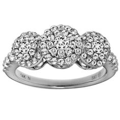 14k White Gold 1 cttw Diamond Ring Amazon Curated Collection. $1190.00. Made in China