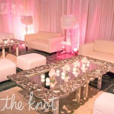 luxe pink and silver wedding cocktail space   #wedding #pink #romantic #love   wedding ideas and inspiration