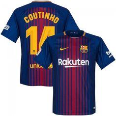 Camiseta del Barcelona 2017-2018 Local + Coutinho 14 (Dorsal Oficial)   fcbarcelona 9a9ad7d827e
