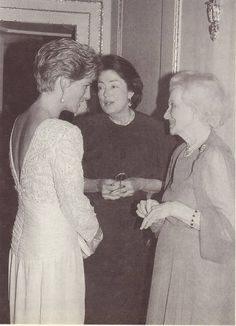 Diana & grandmother, Lady Ruth Fermoy on far right