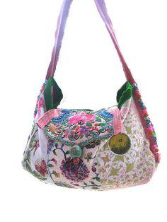 Handmade Heavenly Bag Vintage Embroidery Beaded by AllThingsPretty