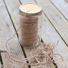 Mason Jar Garden Twine Dispenser -via @Stephanie @ Garden Therapy