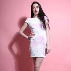 Pink Iridescent Mini Dress
