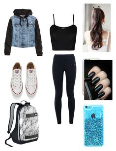 """""""Another school outfit"""" by montrosecheer on Polyvore featuring WearAll, NIKE, H&M, Converse, Casetify, women's clothing, women, female, woman and misses"""