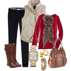 A fashion look from December 2012 featuring Merona t-shirts, J.Crew vests and Abercrombie & Fitch activewear pants. Browse and shop related looks.
