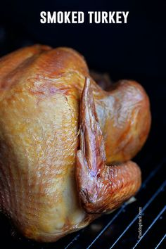 Smoked Turkey makes one of the easiest, most elegant turkey recipes. This simple smoked turkey recipe will definitely become a favorite. Easy Smoked Turkey Recipe, Turkey Recipes, Chicken Recipes, My Burger, Cooking Photos, Smoking Recipes, Smoked Chicken, Wrap Recipes, Thanksgiving Recipes