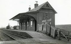 Lochee West Station on the Dundee and Newtyle Railway. Abandoned Train Station, Old Train Station, Train Stations, Wild West, Locomotive, Car Shed, Old West Photos, Disused Stations, Animal Crossing Villagers