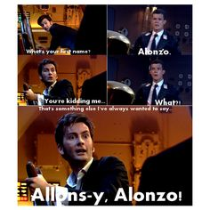 He said to Rose that he wanted to meet someone called Alonso for that reason in Doomsday