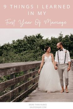 "is an exhilarating and nerve-wracking experience. Wedding planning and saying ""I Do"" made me giddy. Here are 9 things I learned in my first year of marriage. First Year Of Marriage, Before Marriage, My First Year, Marriage And Family, Marriage Advice, 1st Year, Christian Love, Christian Marriage, Praying For Your Husband"