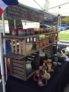 craft show displays pottery - Google Search