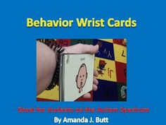 Behavior Wrist Cards: ★You will receive 6 Behavior Cards that are great to use with students who are nonverbal, hearing impaired, or have Autism. Wear the Behavior cards on your wrist. Show the student the picture to remind him what you want him to do. Behavior Cards, Classroom Behavior, Autism Classroom, Special Education Classroom, Classroom Hacks, Classroom Organization, Autism Education, Autism Resources, Teaching Resources