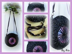 Upcycled VHS Tapes into purse #Purse, #Upcycled, #VHS