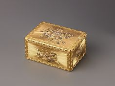 Snuffbox Jean Frémin (French) Date: 1755–56 Medium: Gold