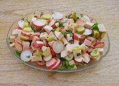 Radieschen - Wurst - Salat, ein leckeres Rezept aus der Kategorie Fleisch & Wurst. Bewertungen: 13. Durchschnitt: Ø 4,2.