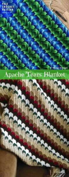 """Martin Etlinger: """"What I am working on right now. Based on the apache tears stitch."""" #ApacheTears #FreeCrochetPattern Crochet → Blanket Throw 