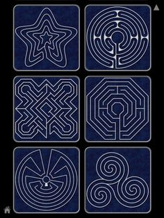 Finger labyrinth -I especially like the star pattern, maybe for Epiphany?: