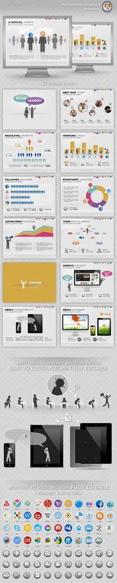 Social Market Keynote Presentation #keynote #keynotetemplate Download: http://graphicriver.net/item/social-market-keynote-presentation/3580310?ref=ksioks