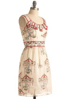 You don't have to be a freak. Look at this cutie! Mod Dress, Dress Up, Circus Fashion, Carnival Dress, Horse Fly, Aqa, New Arrival Dress, Retro Vintage Dresses, Carousels