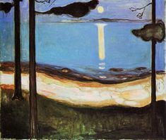 Moonlight - (Edvard Munch)