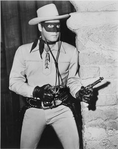 Publicity photograph of actor Clayton Moore as the Lone Ranger