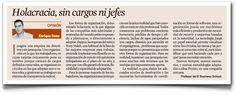 """En la columna de Expansión: """"Holacracia, sin cargos ni jefes"""""""