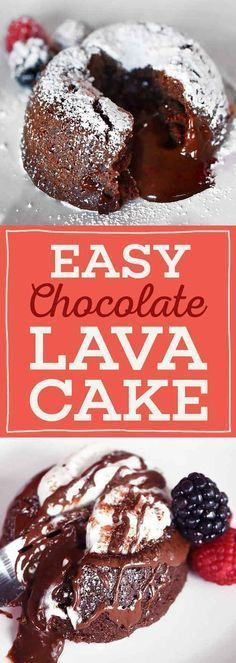 Tasty, gooey, chocolatey - and easy. Learn how to make the infamous Lava Cake here. It's surprisingly simple! These small little cakes are not too much to manage as a nice dessert, baked with a brownie-like texture and irresistible dark filling. Yum!