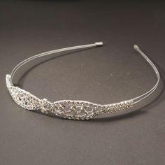 Decent Rhinestone Wedding Bridal Crown Headband 05