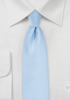 Groom's tie idea - Trendy Narrow Tie in Baby Blue with Silver Dots - Add a splash of cool color to your groomsmen's wedding attire by accessorizing with this ultra charming men's necktie in Baby Blue! Blue Country Weddings, Baby Blue Weddings, Polka Dot Tie, Blue Polka Dots, Blue Groomsmen, Designer Ties, Blue Ties, Blue And Silver, Cheap Neckties