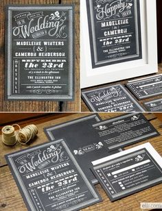 Design Your Perfect Wedding Invitations : Chalkboard