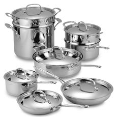 Cuisinart® Chef's Classic™ Stainless 14-Piece Cookware Set - $200 - (If can't find a more ideal set for me - kinda wish some of them had glass tops)