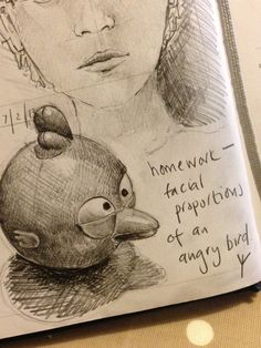 Day 38. Facial proportions of an Angry Bird