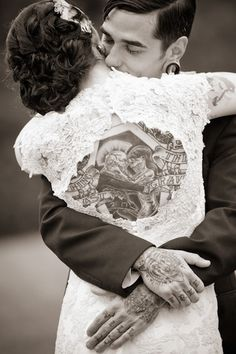 Newly married couple with Full Tattoo