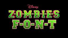 Disney Font Free, Disney Fonts, Zombie Birthday Parties, 9th Birthday, Zombie Party Decorations, Zombie Cookies, Movie Z, Disney Cookies, Movies