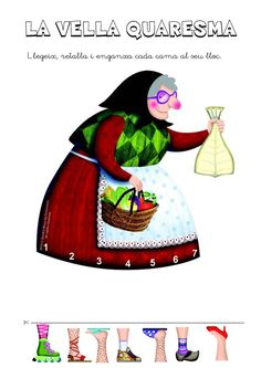 Title: La Vella Quaresma, Author: diversitat Bloc recursos, Length: 3 pages, Published: Easter Crafts, Crafts For Kids, Religion Catolica, Baba Yaga, Lent, Paper Dolls, Disney Characters, Fictional Characters, Disney Princess