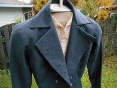 Sale vintage 40's gray Luce et Mony couture peplum by Simplemiles
