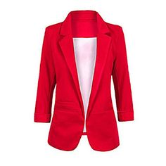 Face N Face Women's Cotton Rolled Up Sleeve No-Buckle Blazer Jacket Suits  CUSTOMER SATISFACTION GUARANTEED - Concerned about sizing? No worries, all our products are fulfilled by Amazon and therefore eligible for free returns if the sizing is not what you expected. Enjoy your absolutely RISK FREE purchase for this special price today.  SIZE CONCERNING - The item comes in Asia size tag, pls check the size details carefully before you purchase. If you have problem about the size, pls fe...