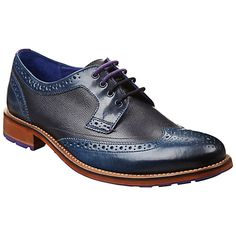 Buy Black/Dark Blue Ted Baker Cassius Leather Wingtip Derby Brogues from our Men's Shoes, Boots & Trainers range at John Lewis & Partners. Me Too Shoes, Men's Shoes, Dress Shoes, Brogues, Ted Baker, Derby, Trainers, Dark Blue, Oxford Shoes