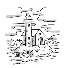 Lighthouse keepers lunch coloring book pages ~ The Lighthouse Keeper eating his lunch   Lighthouse Fun ...