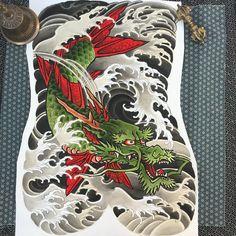 koi fish tattoo for men chest ; koi fish tattoo on chest ; Koi Dragon Tattoo, Carp Tattoo, Koi Fish Tattoo, Dragon Tattoo Designs, Dragon Fish, Chest And Back Tattoo, Back Piece Tattoo, Japanese Tattoo Art, Japanese Tattoo Designs