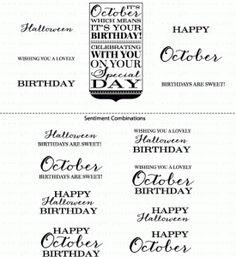 Birthday Classics: October Mini Stamp Set