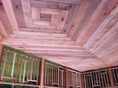 Cedar deck built in Alberta