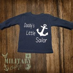Daddy's Little Sailor Navy Baby by MilitaryBaby2013 on Etsy, $18.00 https://www.etsy.com/listing/163368091/daddys-little-sailor-navy-baby?ref=listing-shop-header-3