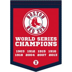 Boston Red Sox World Series Champions Banner