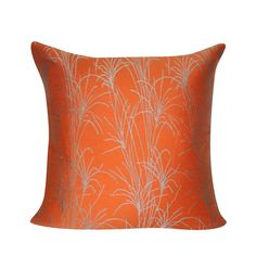 Loom and Mill Contemporary Branches Throw Pillow, Orange