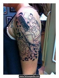 Cosmetologist tattoo.